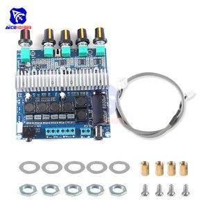 Image 3 - Tpa3116 2.1 placa de amplificador de áudio dc 12 24 v módulo amplificador subwoofer de alta fidelidade digital super baixo alto falante 50 w + 50 w + 100 w