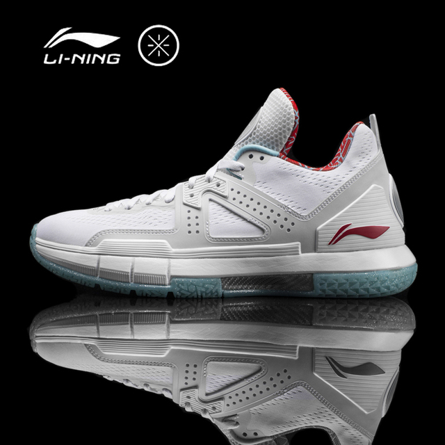 Li-Ning Men's WOW 5 'CITY FLAG' CHICAGO Basketball Shoes Cushion Bounse+ Sneakers Support Sport Shoes ABAM057 XYL099