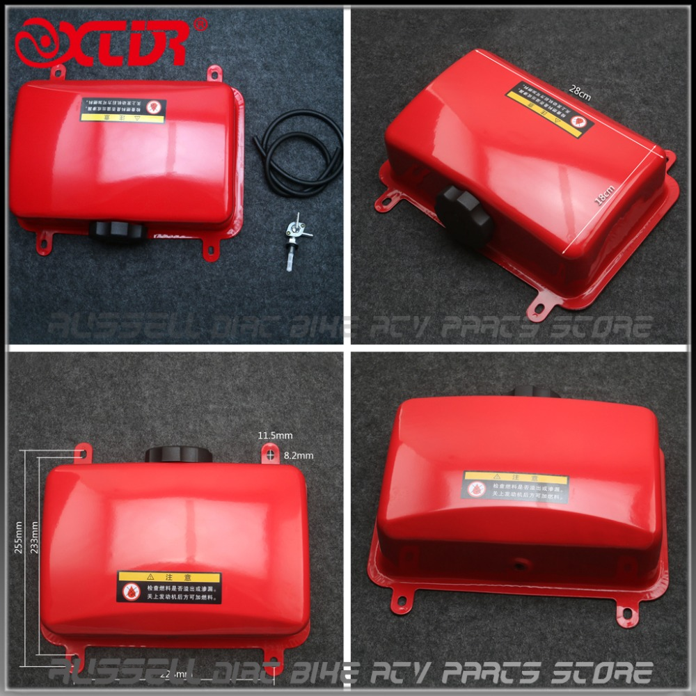 5L Red Portable Gas Diesel Petrol Fuel Tank Oil Container Fuel jugs Hose Tube Motor Car
