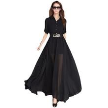 Bohemian Maxi Summer Dress  Long Casual Sleeve Chiffion Dresses Vintage NL0128