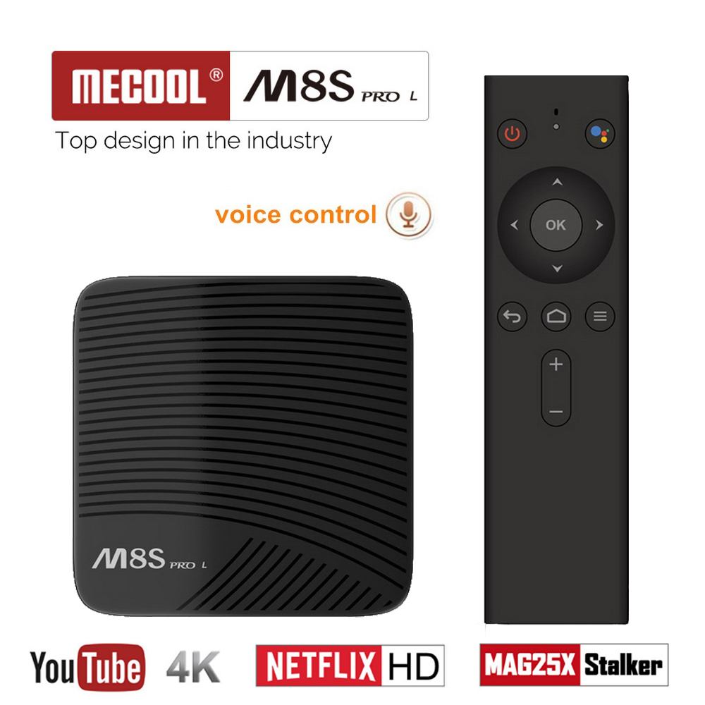 Mecool M8S PRO L Smart TV Box with Voice Remote Control Android 7.1 Amlogic S912 3GB 32GB 5G Wifi BT4.1 Set-top Box Media Player цена 2017