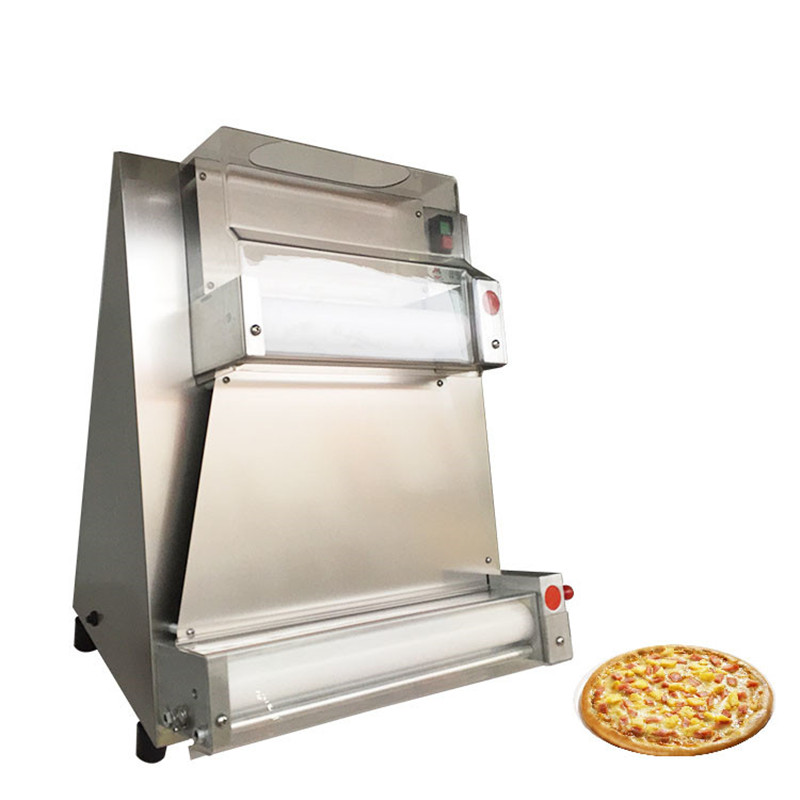 BEIJAMEI 0.5-5.5mm thickness electric bread pizza dough press machine commercial pizza making pizza forming machine price pizza bread skin bread roll skin spring roll machine making machine with one mould