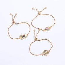 Hamsa Hand Charm Blue Evil Eye Bracelet For Woman Tree Life Jewelry Owl Turkey Fatima Handmade Gold Color 2018