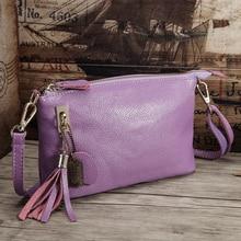 c15b55604710 Brand Designer Genuine Leather Ladies Handbag Vintage Tassel Women s  Crossbody Bags Female Clutch Women Shoulder Bag