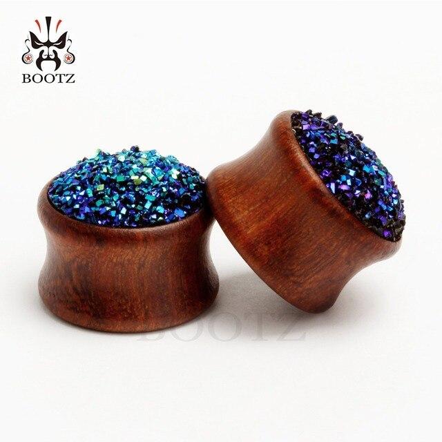 2 шт затычки для ушей с камнями