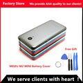 M2 originais mini 5 polegada sim card bandeja da bateria tampa traseira porta case para meizu m2 mini substituição de habitação, Lente da câmera + Botões