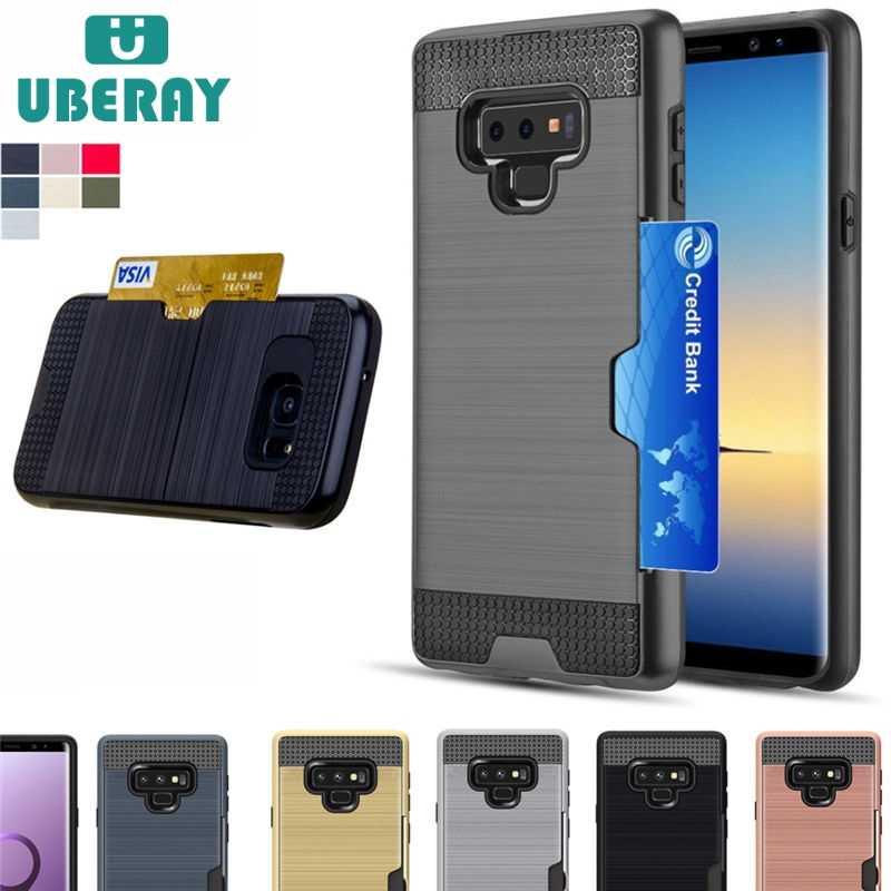 Per Samsung A3 A5 A7 2017 J5 J7 Prime Antiurto Caso Hybrid Armatura per J4 J6 J8 A6 A8 2018 s9 Slot Per Supporto di Carta Coperture Caso Capa