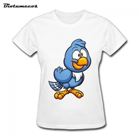 Biotumecos Printed Loose Women T Shirts Cartoon Birds Cool Women S Tee Shirts Tops Brand Clothing