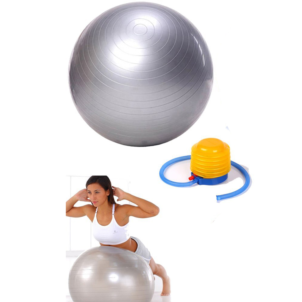 2018 Hot Exercise Ball Yoga Ball Free Pump- Burst Resistant Fitness Balls,75 cm,Ideal for Yoga Pilaties Abs and Core Workouts