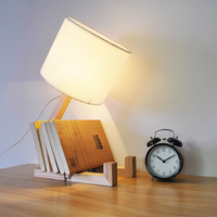 Solid Wooden table lights creative lovely raw wooden lamp bedside bedroom study bar warm light decorative lamp wall lights ZA