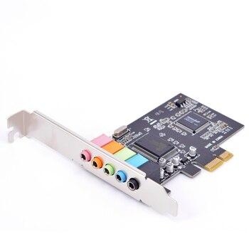 Pci-e 5.1ch 6 каналов cmi 8738 звуковая карта CMI8738 чип pci-e 5.1 стерео аудио карты Высокое качество