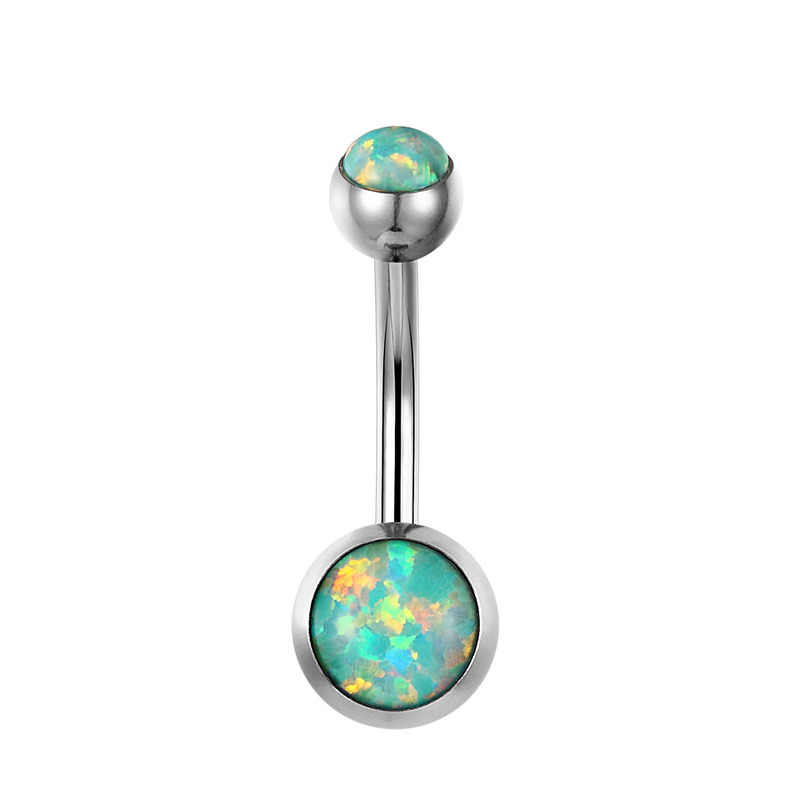 G23titan Baru Pusar Tindik Api Opal Cincin Pusar 1.6G G23 Titanium Tombol Bel Cincin Tindik Ombligo Perhiasan