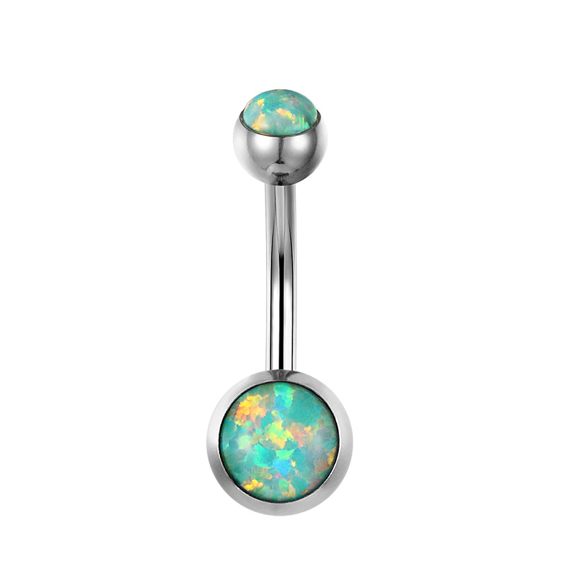 G23titan New Bellybutton Piercing Fire Opal Navel Ringe 1.6G G23 - Mode smykker - Foto 6
