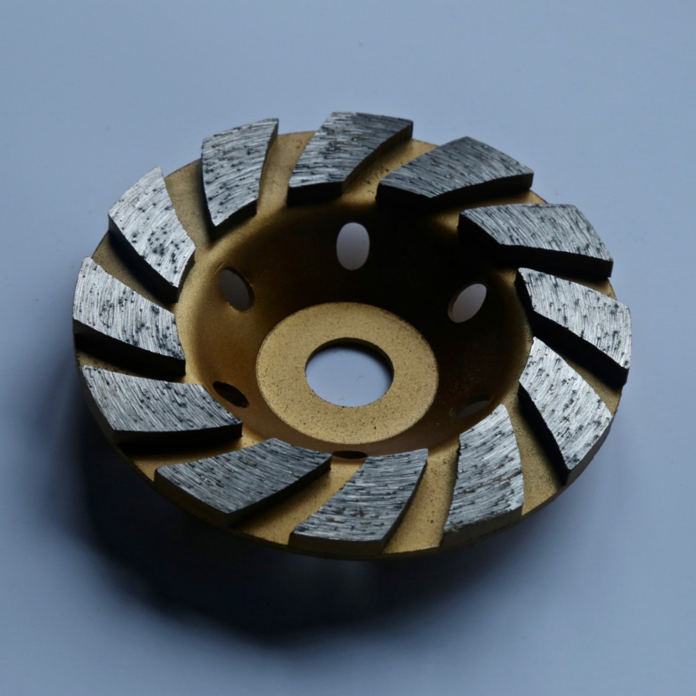 Free Shipping Of Decoration Grade 125mm*22mm I-segmented Diamond Cup Grinding Wheel For Marble/granite/concrete Floor Grinding