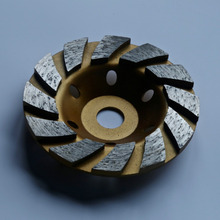 Free shipping of decoration grade125mm*22mm*5mm I-segmented diamond cup wheel for stone grinding stone marble/granite/concrete z lion cnc stubbing wheel segmented type for router machine calibrating wheel stone granite marble diamond profiling wheel