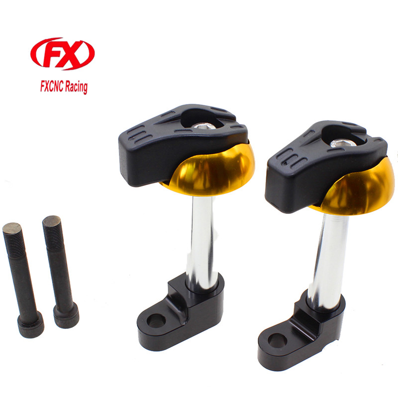FX CNC Motorcycles Frame Sliders Crash Pad Cover Falling Protector Protective Guard For KAWASAKI Z1000 2010 - 2012 2011