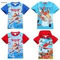 2 Para 9Y Desenhos Animados Avião Crianças Meninos crianças Tops Tees T Camisas Do Traje de Verão de Algodão Do Bebê Das Meninas Dos Meninos Camisetas Roupas SAILEROAD