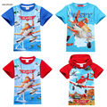2 To 9Y Cartoon Plane Children Kids Boys Tops Tees T Shirts Costume Summer Cotton Baby Boys Girls T-shirts Clothing SAILEROAD