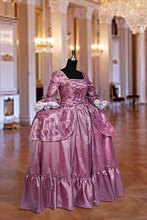 Renaissance Baroque Gown or Medieval Dress Gown in Taffeta Costume Clothing Multiple Colors Available