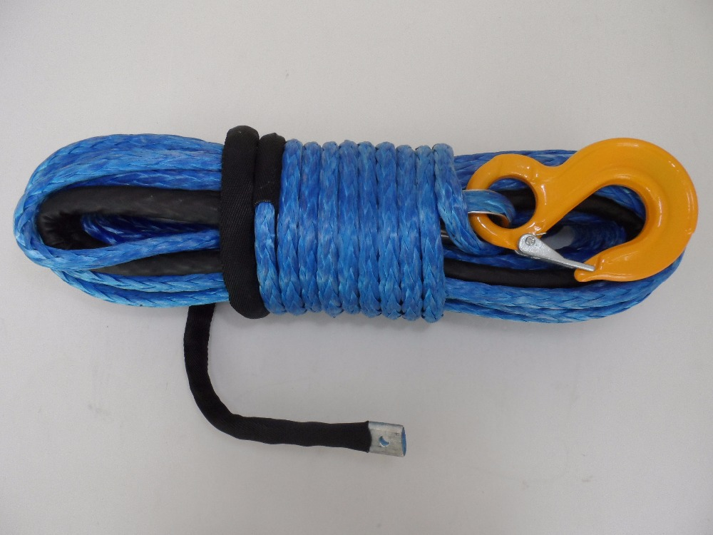 Blue 8mm*30m kevlar winch rope,synthetic winch rope,Plasma Winch Cable