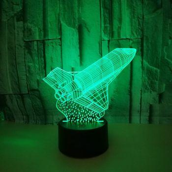 Настольная лампа Rocket, 7 цветов, с дистанционным управлением, сенсорная 3d Светодиодная лампа, новинка, креативные настольные лампы, милый мул...