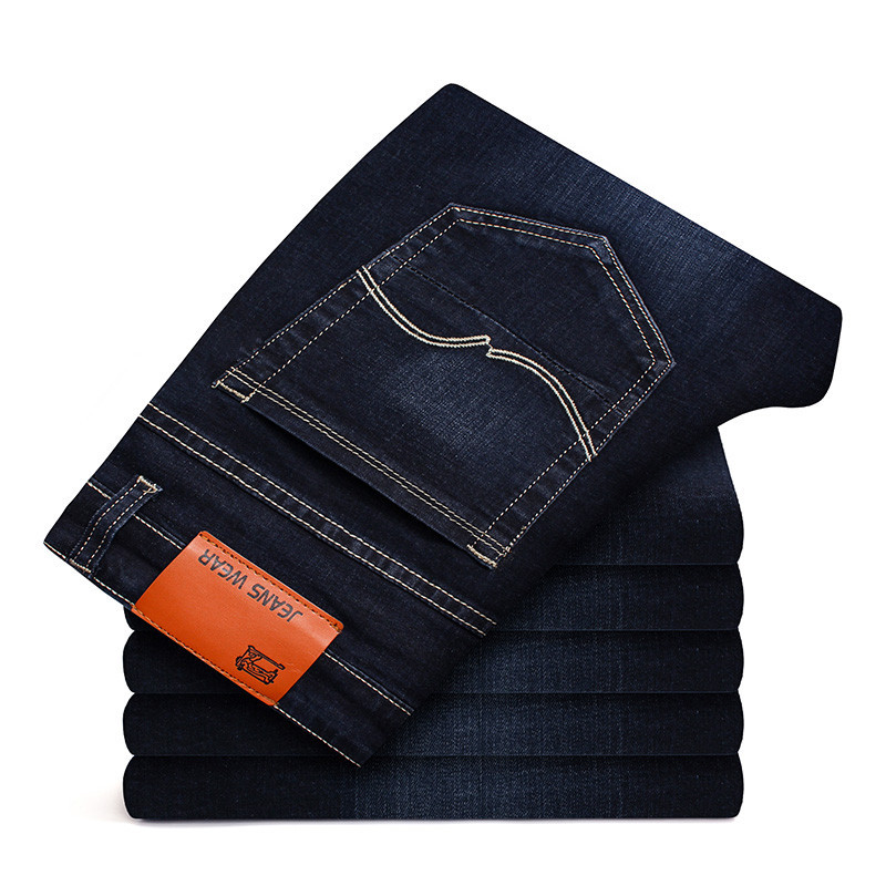 2019 Fashion Spring Summer   Jeans   Men's Casual Solid Color Business Elastic Slim Fit Skinny Straight Pants Plus Size