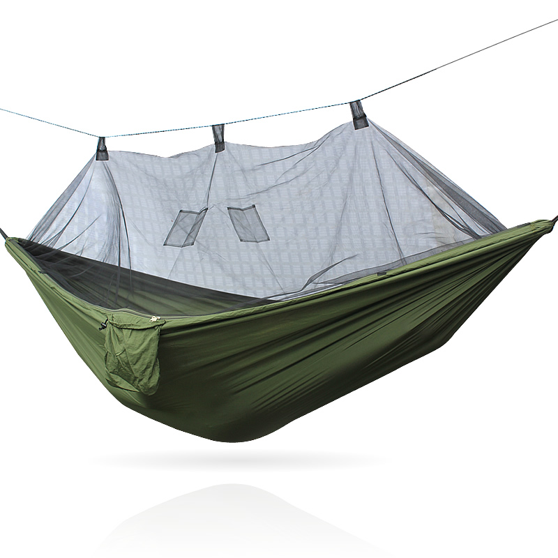 260CM goodwin Portable Hammock Single-person Folded The Pouch Mosquito Net Hammock Hanging Bed For Travel Kits Camping Hiking 2 people portable parachute hammock outdoor survival camping hammocks garden leisure travel double hanging swing 2 6m 1 4m 3m 2m