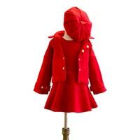 Fashion Casual Children Tracksuits Coat Dress Cotton Children Clothing Popular Girls Sport Suits New Children Clothing Set 2 10T