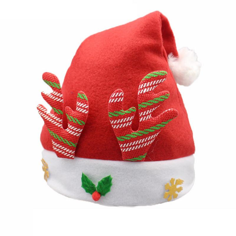 1 X Children's New Year Hats Holiday Festival Christmas Party Toy Hat Reindeer Kids Hat 5 Styles Support Wholesale Drop Shipping