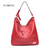 ELIM&PAUL New Fashion luxury handbags women bags designers Tassel Soft Black White Shoulder Bags Message Bags for Women 2018