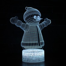 Xmas Series Christmas Decorations Home Party 3D Lamp 7 Colors Change LED Night Light Luminaria Snowman Christmas&New Year Gifts