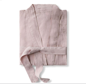 Image 5 - UNIKIWI.Women Sleepwear Robes Linen Pajamas.breathable Shower Spa Linen Robe Night Bathrobes Sleep Nightgown Robe Dressing Gown