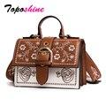 Toposhine женская сумка с вышивкой  винтажные маленькие женские сумки для девочек  черные женские сумки-мессенджеры из искусственной кожи  бесп...