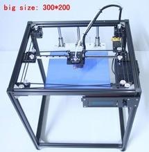 2017 черный 300*200 Большие размеры 3D-принтеры машины Ramps1.4 plus2 corexy 3D Принтер Комплект