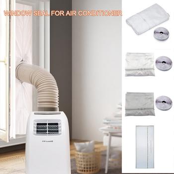 3m 4m 5 6m okno AirLock Seal Plate pokrywa klimatyzatora miękka przegroda uszczelka okna dla wszystkich mobilnych klimatyzatorów tanie i dobre opinie 100 poliester PRINTED Nowoczesne window air conditioner