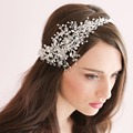 Bridal Hats 100% Handmade Hairband Princess Crystal Czech Rhinestone Bridal Headband Headpiece Wedding Hair Accessories Jewelry