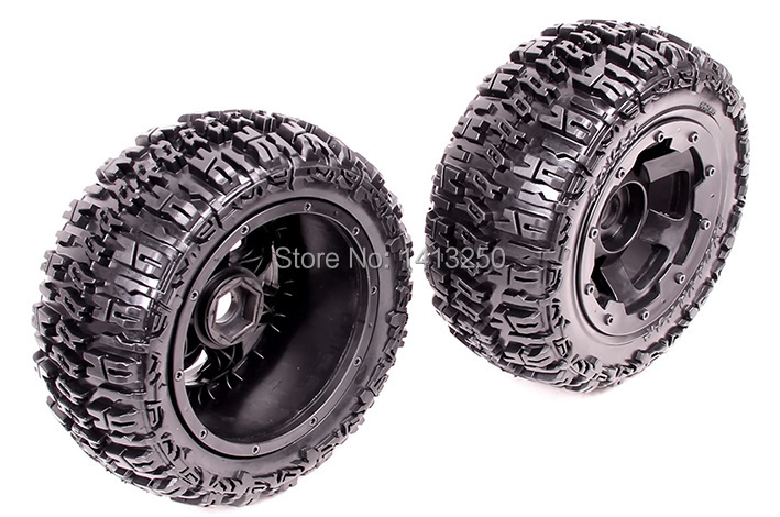 5T Front knobby wheel set  for baja parts,free shipping baja front new  knobby tire set 85078