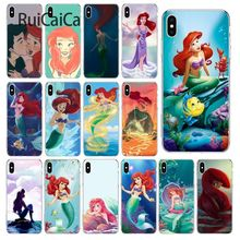 Ruicaica Princess Ariel Little Mermaid snow princess Phone Case Cover Shell for iPhone 6S 6plus 7 7plus 8 8Plus X Xs MAX 5 5S XR