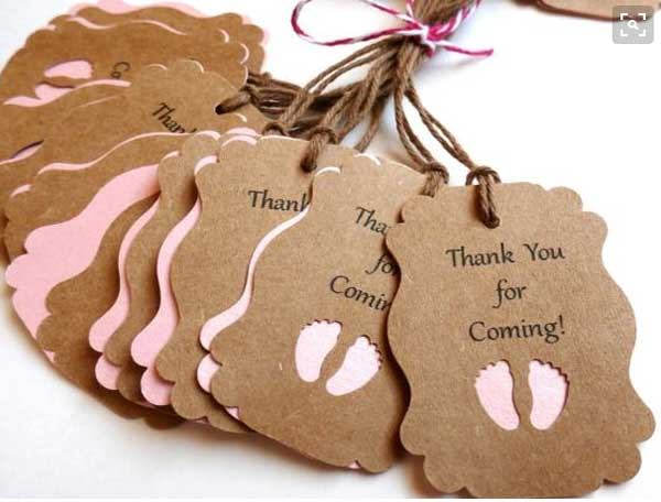 Kraft Paper Tags Gift Card Paper Card With String For Baby