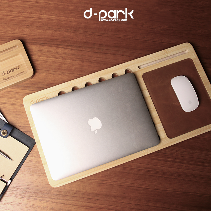 Natural Bamboo Laptop Stand For Macbook Laptop 11in Up To