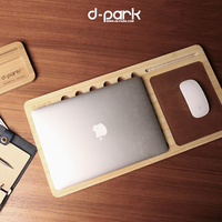 Natural Bamboo Laptop Stand for MacBook, Laptop 11in up to 15in or Tablet Lap Desk