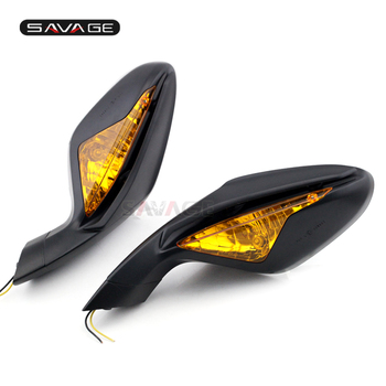 Left & Right Rearview Mirrors For MV Agusta F3 675 800 Motos Accessories Side Mirrors With Turn Signals Blinker Indicator