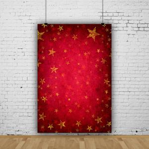 Image 5 - Laeacco Photography Backdrops Gold Star Red Gradient Solid Color Wall Party Pattern Baby Photo Background Photocall Photo Studio