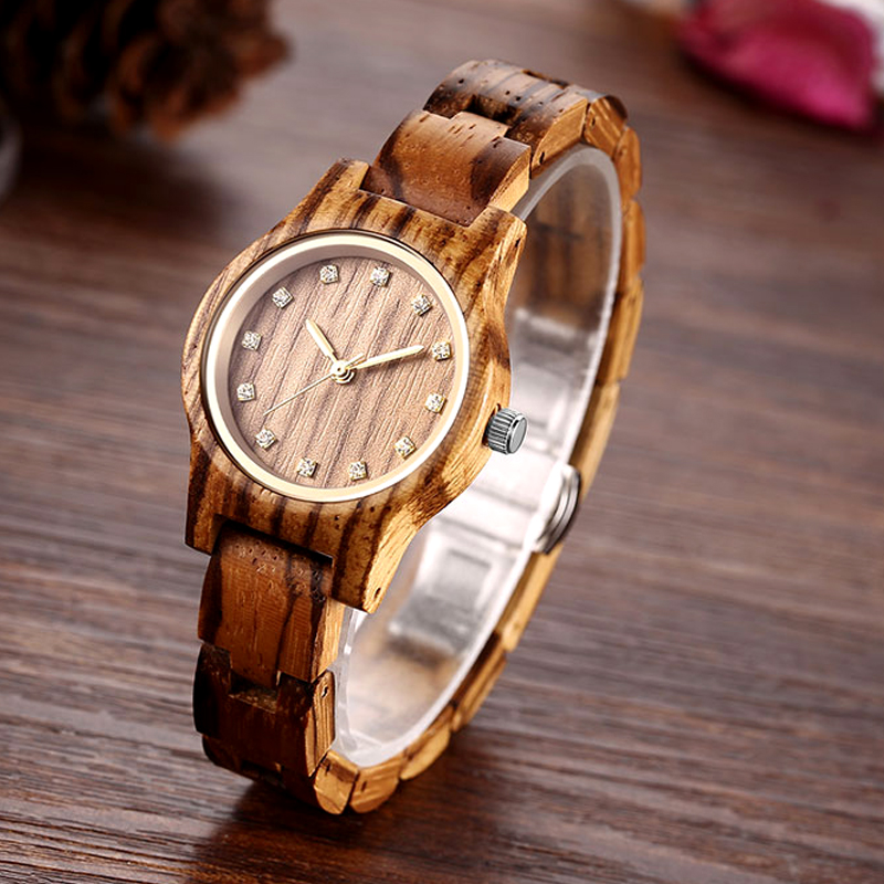 New Design Women Zebra Wooden Watch Luxury Brand Top Gift 2