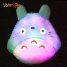 1pc 30cm*34cm New Totoro Led Luminous Plush Pillow Lovely Totoro Toy Stuffed Animal Soft Pillow Christmas Gift Birthday Gift