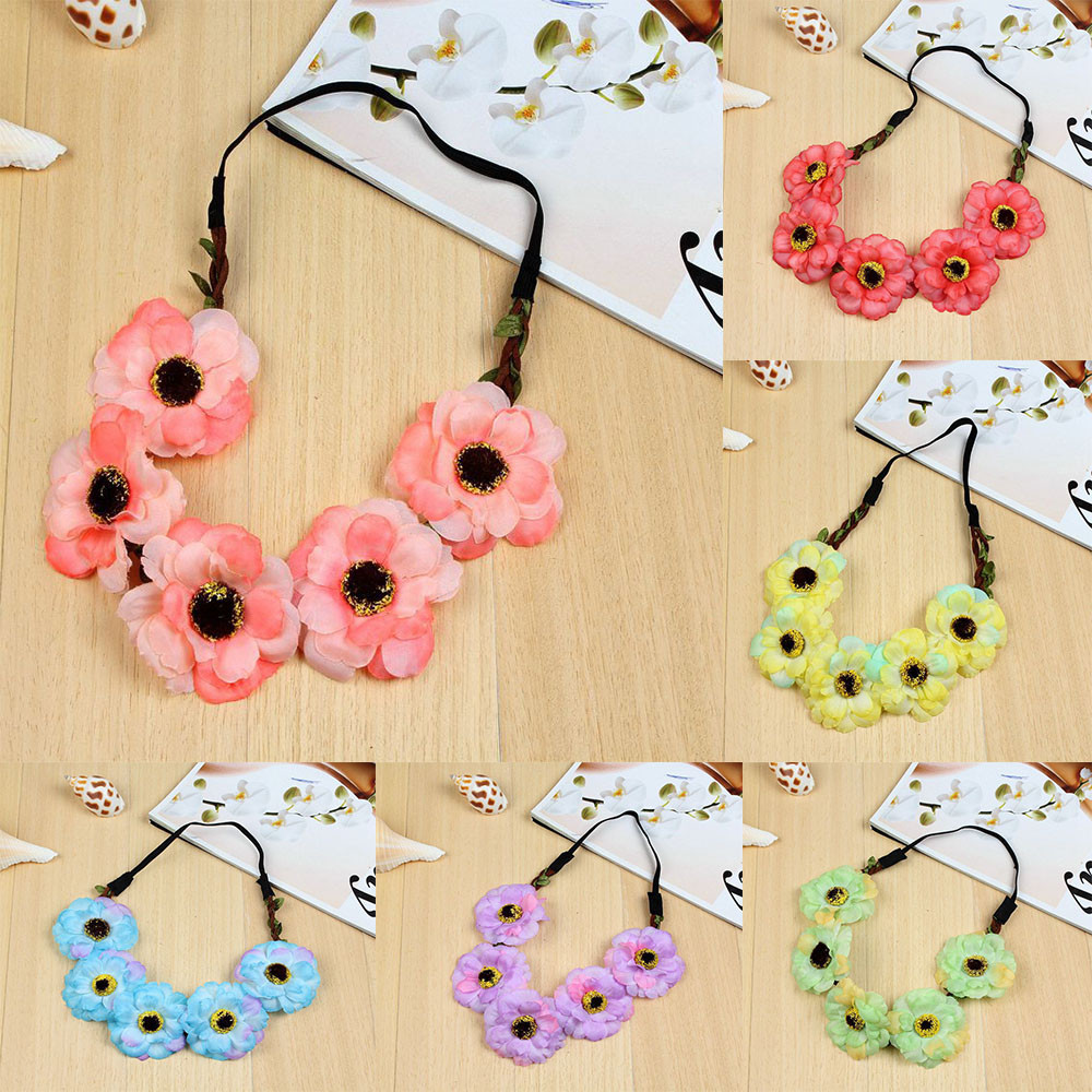 Beautiful Flower Headbands For Girls Bohemian Style Garland Floral Garland F904