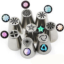 8Pcs/set Russian Tulip Icing Piping Nozzles Cake Decoration Tips 3d printer nozzle Biscuits Sugarcraft Pastry Baking Tool DIY