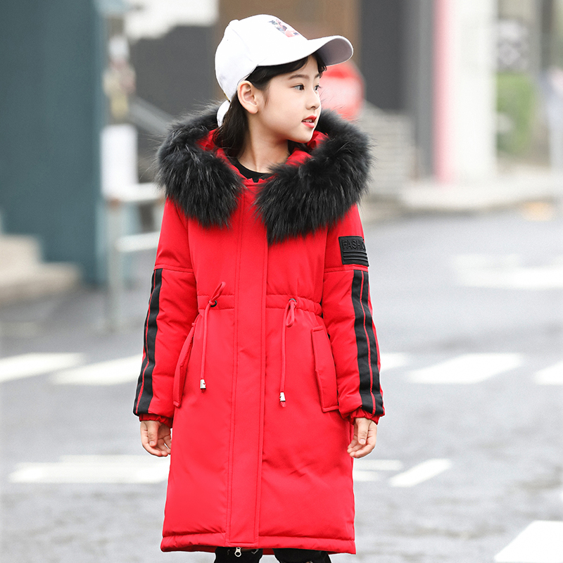 Children's Down Jacket Teenagers Clothing Kids Boys Jacket 2018 Winter Jacket Warm Hooded Long Sleeve Jacket for Teenagers Boys