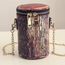 จัดส่งฟรีแฟชั่นใหม่สร้างสรรค์ที่โดดเด่นตอไม้รุ่นโซ่กระเป๋าสะพาย