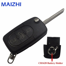 maizhi CR1620 Small Battery Remote Flip Key Case Shell Cover Styling For Audi TT A4 A6 Quattro 1997-2005 Old Models